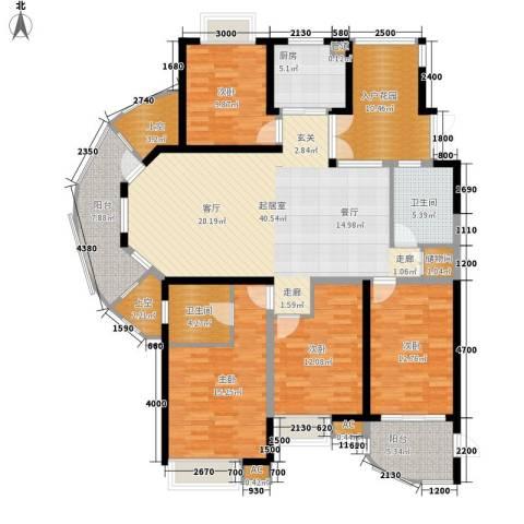 湘江世纪城4室0厅2卫1厨166.00㎡户型图