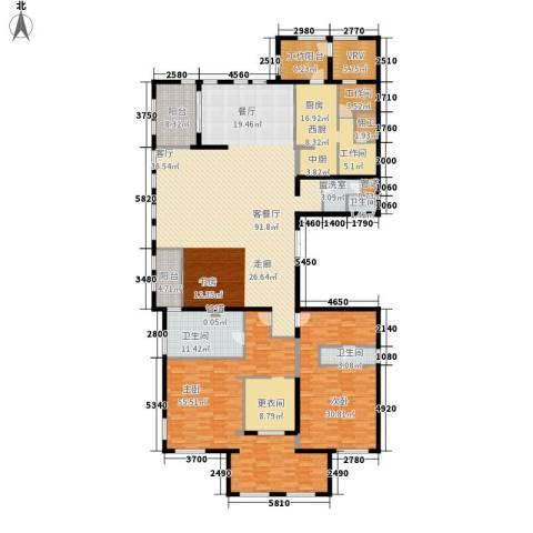 中粮祥云国际生活区2室1厅3卫1厨340.00㎡户型图