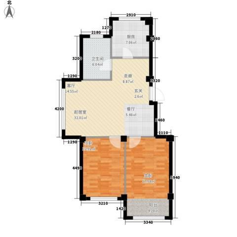 意利黄海明珠2室0厅1卫1厨102.00㎡户型图
