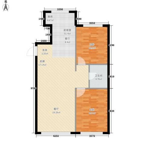 意利黄海明珠2室0厅1卫0厨116.00㎡户型图
