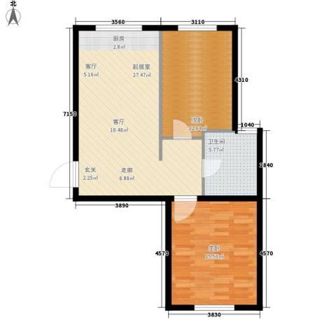 意利黄海明珠2室0厅1卫0厨85.00㎡户型图