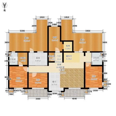 东方太阳城三期琴湖湾3室0厅2卫1厨214.27㎡户型图