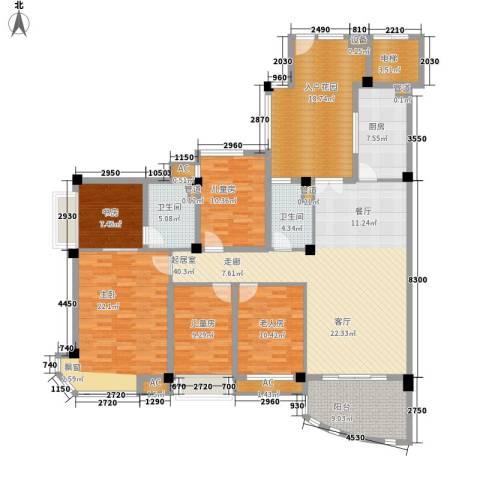 碧桂园翡翠山5室0厅2卫1厨172.50㎡户型图