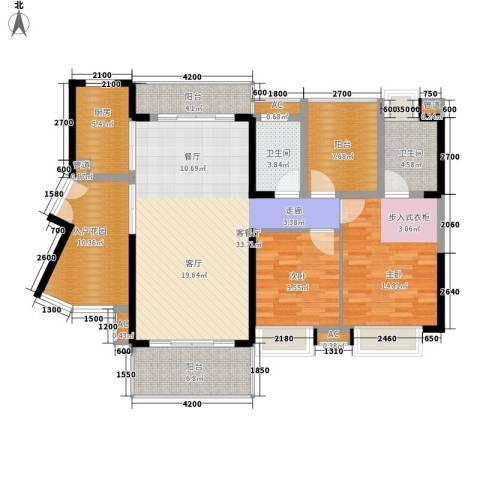 星河盛世2室1厅2卫1厨118.38㎡户型图