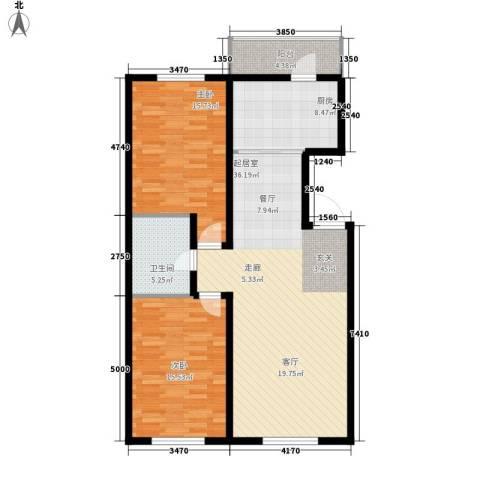 意利黄海明珠2室0厅1卫1厨96.00㎡户型图