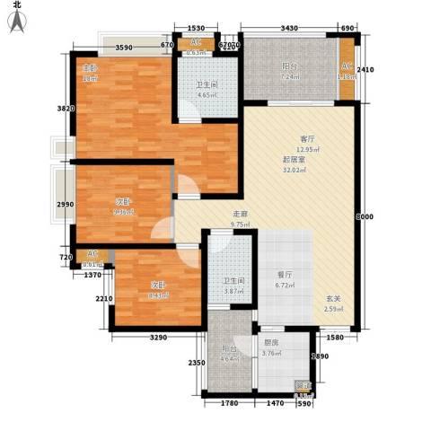 阿特豪斯3室0厅2卫1厨107.83㎡户型图