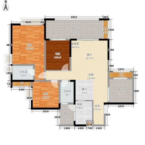 阿特豪斯3室0厅2卫1厨136.19㎡户型图