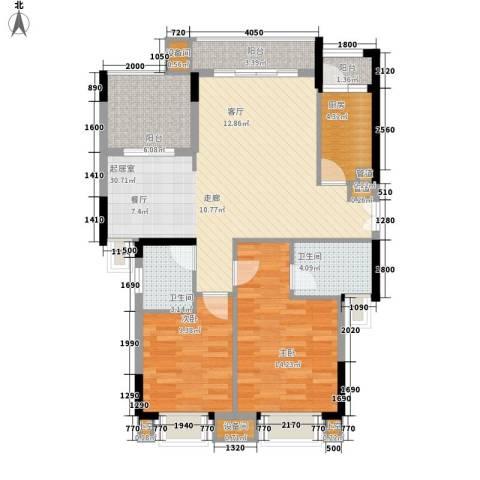 康田紫悦府2室0厅2卫1厨79.00㎡户型图