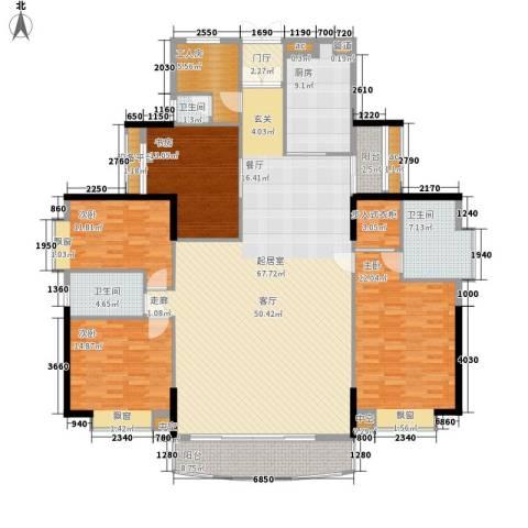 越秀汉苑4室0厅3卫1厨196.00㎡户型图