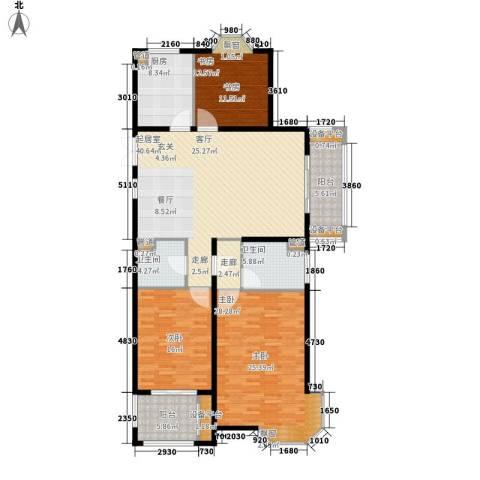 润达锦秀河山3室0厅2卫1厨146.00㎡户型图
