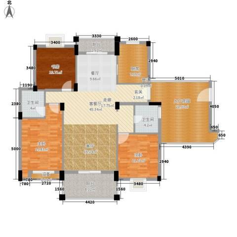 万里阳光水岸3室1厅2卫1厨147.00㎡户型图
