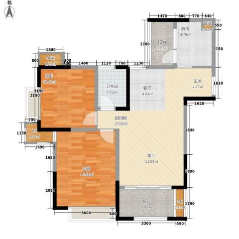 阿特豪斯2室0厅1卫1厨81.70㎡户型图