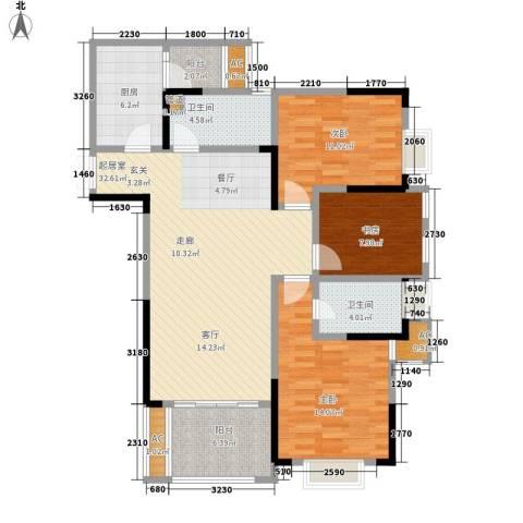 阿特豪斯3室0厅2卫1厨104.98㎡户型图