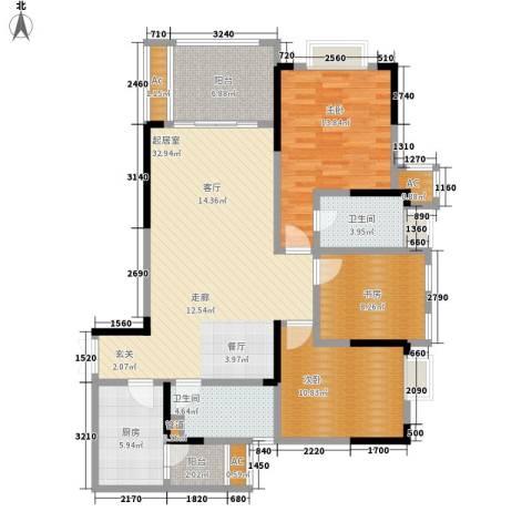 阿特豪斯3室0厅2卫1厨105.52㎡户型图