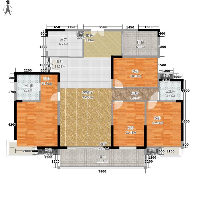 远志新外滩七房两厅两卫户型