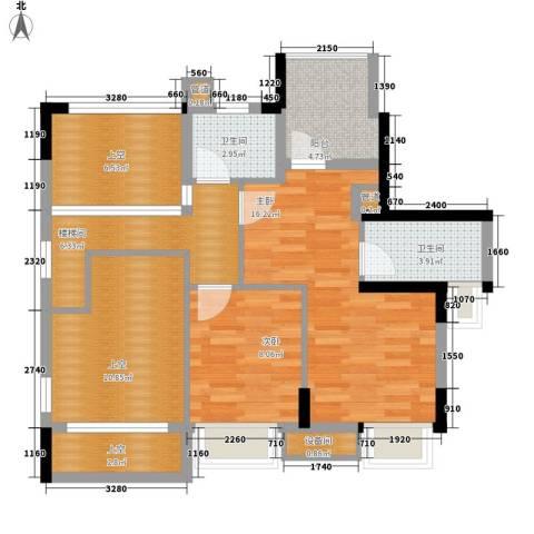 康田紫悦府2室0厅2卫0厨106.00㎡户型图