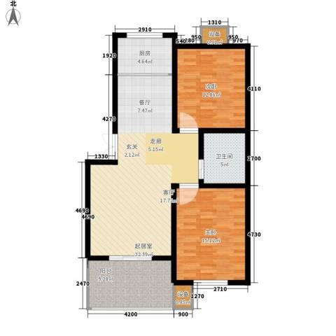 长运家园南苑2室0厅1卫1厨94.00㎡户型图