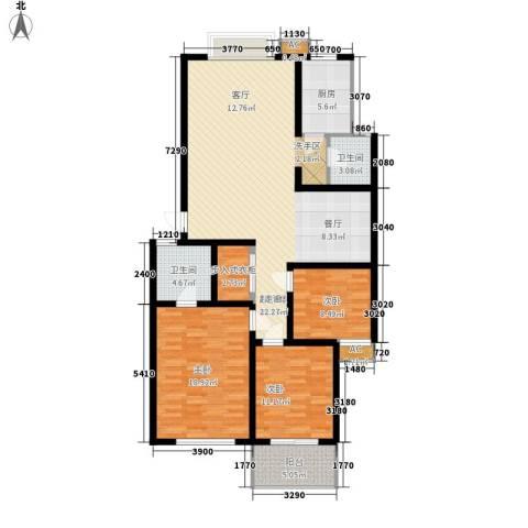 金地华园3室0厅2卫1厨132.00㎡户型图