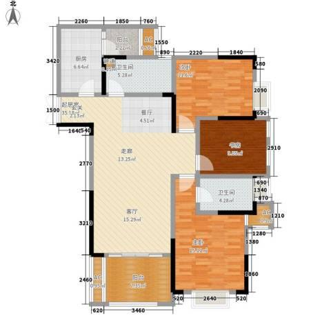 阿特豪斯3室0厅2卫1厨113.42㎡户型图