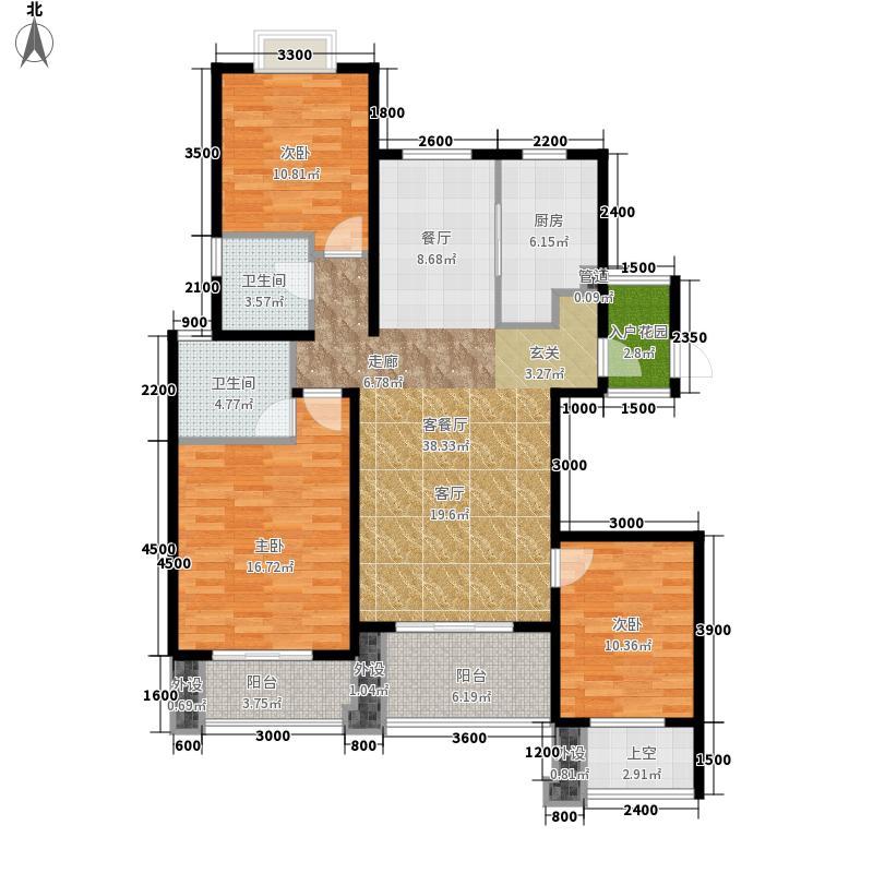 翰林世家137.00㎡7#楼B1-3奇数层户型