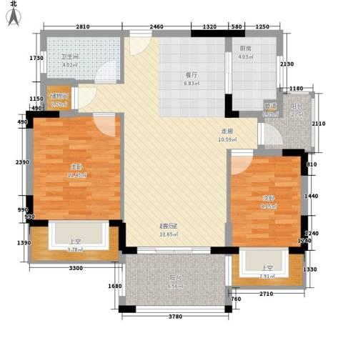 中国人民财产保险宿舍2室0厅1卫1厨107.00㎡户型图