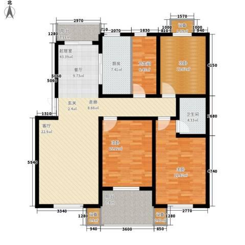 长运家园南苑3室0厅2卫1厨139.00㎡户型图