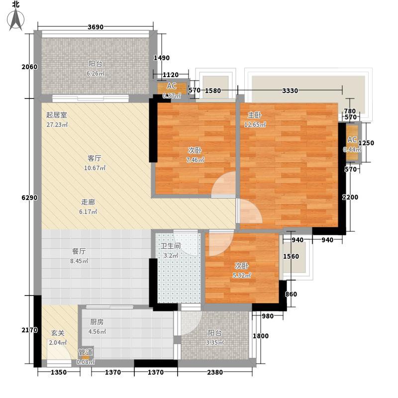 瑜翠园88.51㎡卓苑2座05面积8851m户型