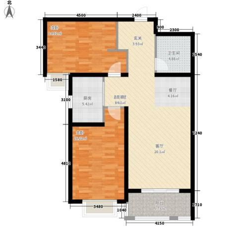 盛华园2室0厅1卫1厨94.00㎡户型图