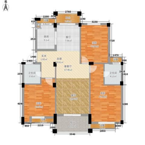 万里阳光水岸3室1厅2卫1厨131.00㎡户型图