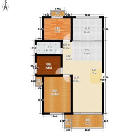 长运家园南苑3室0厅1卫1厨116.00㎡户型图