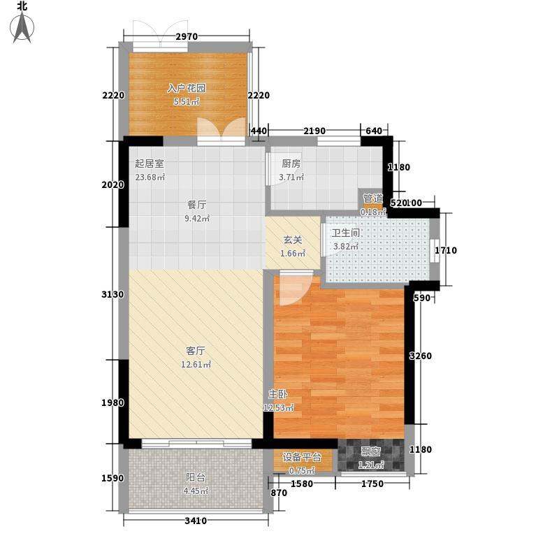 富力城53.12㎡二期B7、8栋标准层1号房户型