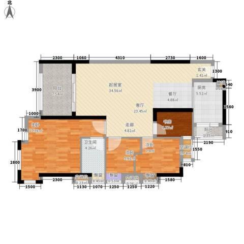 半山雍景苑4室0厅1卫1厨109.00㎡户型图