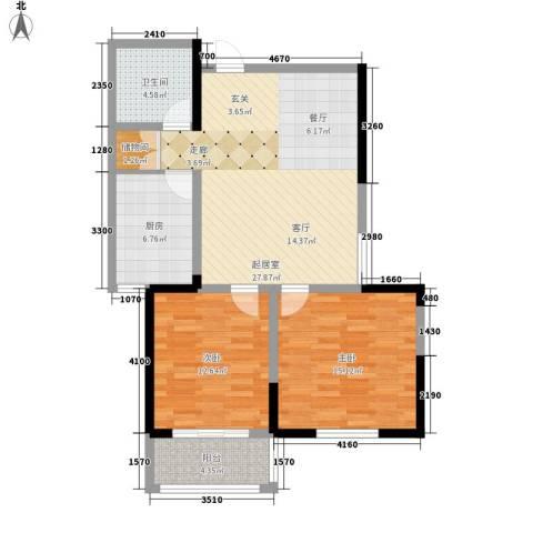 金色阳光花园2室0厅1卫1厨83.00㎡户型图