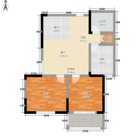 金色阳光花园2室0厅1卫1厨84.00㎡户型图