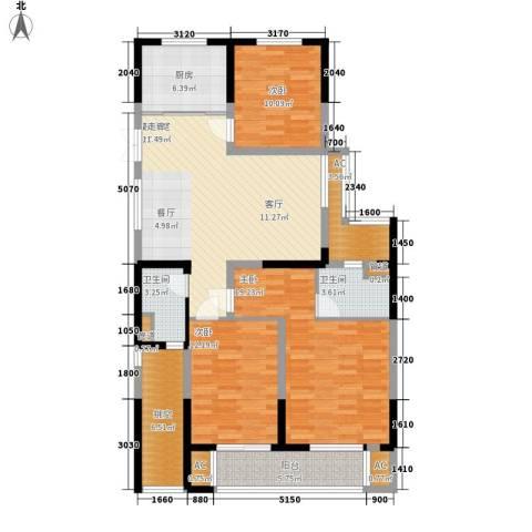 著明和谐家园3室0厅2卫1厨117.00㎡户型图