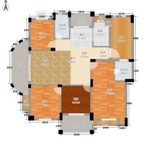 万里阳光水岸4室1厅2卫1厨151.00㎡户型图