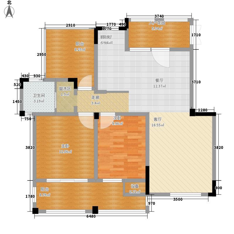 东方维罗纳100.00㎡南区29#31#等标准层G3户型2室2厅