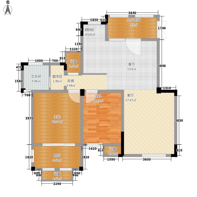 东方维罗纳98.00㎡南区29#31#等标准层G4户型2室2厅