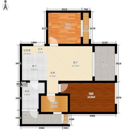 阿特豪斯2室0厅1卫1厨76.71㎡户型图