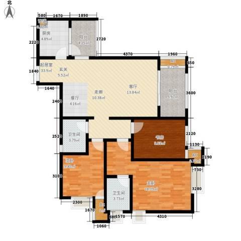 阿特豪斯3室0厅2卫1厨111.19㎡户型图