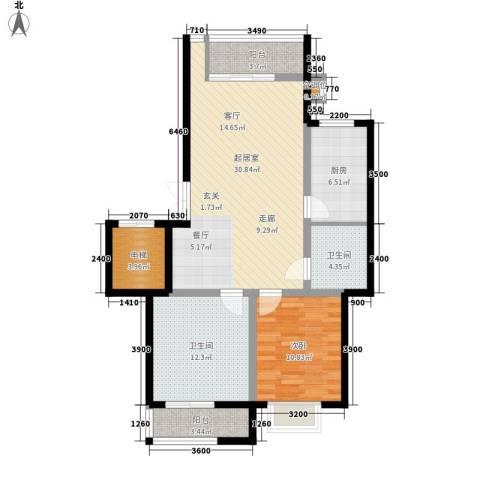 元丰怡家1室0厅2卫1厨88.00㎡户型图