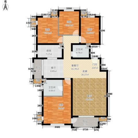 东方太阳城三期琴湖湾4室1厅2卫1厨185.00㎡户型图