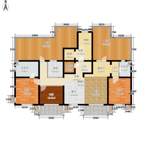 东方太阳城三期琴湖湾3室1厅2卫1厨208.77㎡户型图