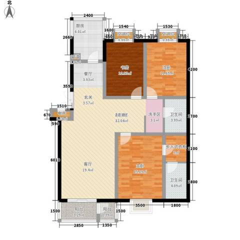 元丰怡家3室0厅2卫1厨150.00㎡户型图
