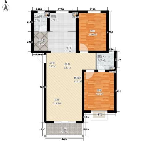 香木林2室0厅2卫1厨116.00㎡户型图