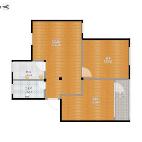 南苑一村2室1厅1卫1厨79.00㎡户型图