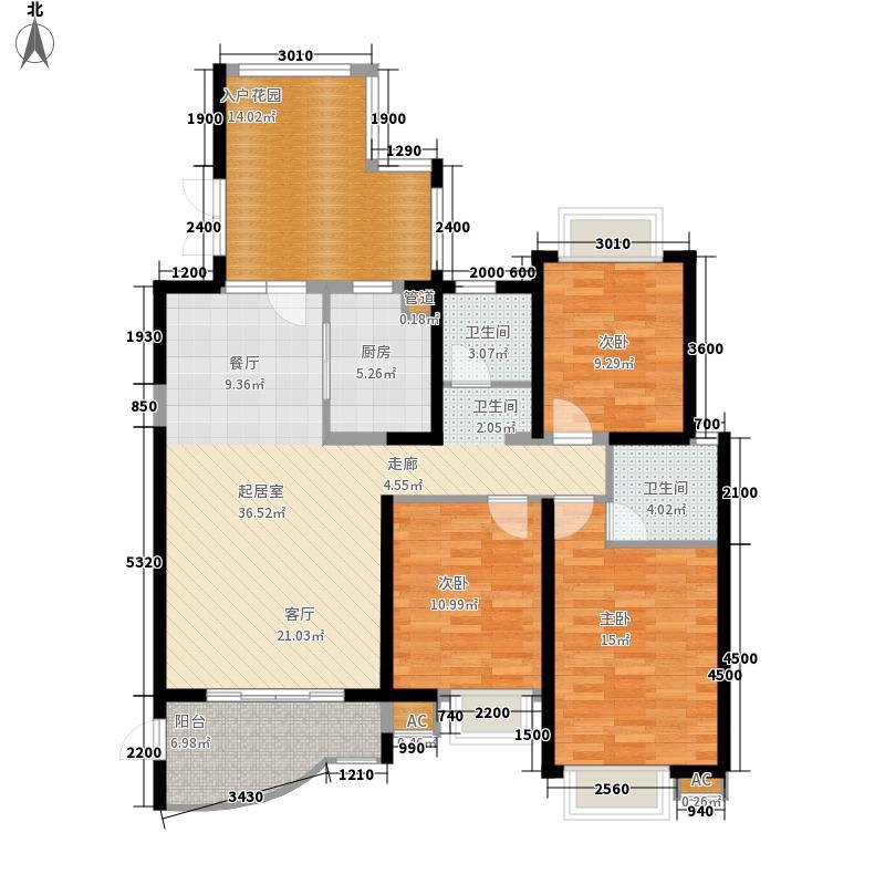湘江世纪城134.00㎡悦江苑12#楼0面积13400m户型