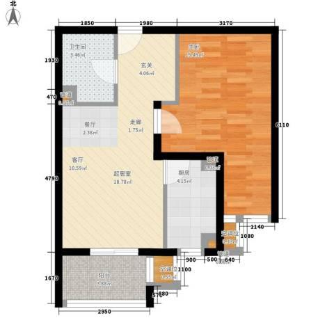 元龙水云间1室0厅1卫1厨69.00㎡户型图