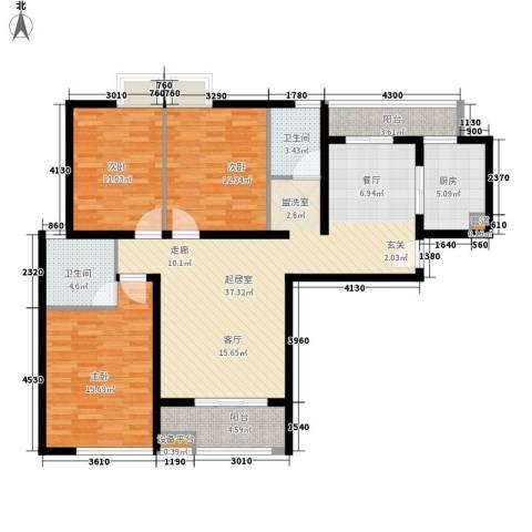 香木林3室0厅2卫1厨131.00㎡户型图