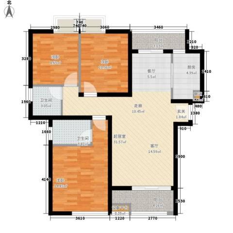 香木林3室0厅2卫1厨119.00㎡户型图